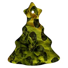 Olive Seamless Camouflage Pattern Ornament (Christmas Tree)