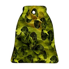 Olive Seamless Camouflage Pattern Ornament (bell)
