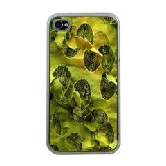 Olive Seamless Camouflage Pattern Apple iPhone 4 Case (Clear)