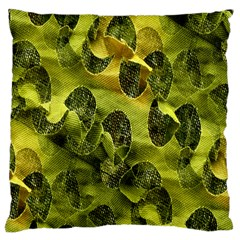 Olive Seamless Camouflage Pattern Large Cushion Case (Two Sides)