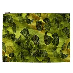 Olive Seamless Camouflage Pattern Cosmetic Bag (XXL)