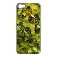 Olive Seamless Camouflage Pattern Apple Iphone 5 Case (silver)