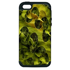 Olive Seamless Camouflage Pattern Apple Iphone 5 Hardshell Case (pc+silicone)