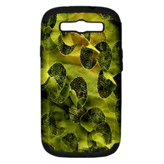 Olive Seamless Camouflage Pattern Samsung Galaxy S III Hardshell Case (PC+Silicone)