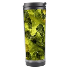 Olive Seamless Camouflage Pattern Travel Tumbler