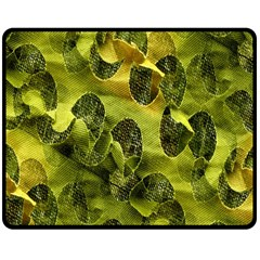 Olive Seamless Camouflage Pattern Double Sided Fleece Blanket (medium)