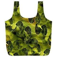 Olive Seamless Camouflage Pattern Full Print Recycle Bags (l)
