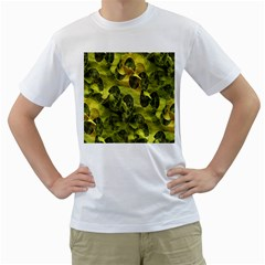 Olive Seamless Camouflage Pattern Men s T Shirt (white)