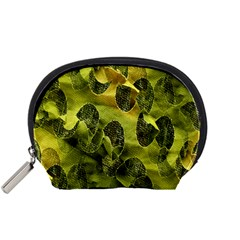Olive Seamless Camouflage Pattern Accessory Pouches (small)