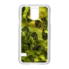 Olive Seamless Camouflage Pattern Samsung Galaxy S5 Case (white)