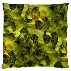 Olive Seamless Camouflage Pattern Standard Flano Cushion Case (two Sides)