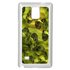 Olive Seamless Camouflage Pattern Samsung Galaxy Note 4 Case (White)