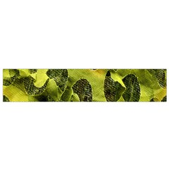 Olive Seamless Camouflage Pattern Flano Scarf (Small)