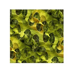 Olive Seamless Camouflage Pattern Small Satin Scarf (square)