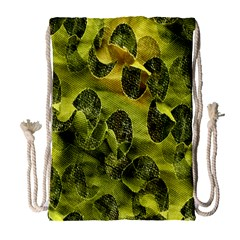 Olive Seamless Camouflage Pattern Drawstring Bag (large)