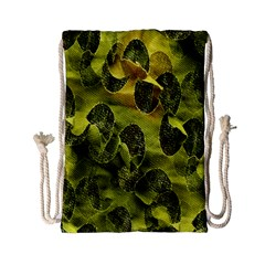 Olive Seamless Camouflage Pattern Drawstring Bag (small)