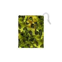 Olive Seamless Camouflage Pattern Drawstring Pouches (XS)
