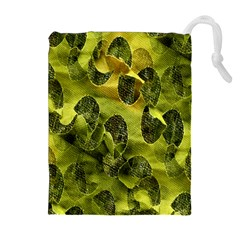 Olive Seamless Camouflage Pattern Drawstring Pouches (extra Large)