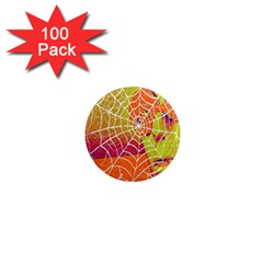Orange Guy Spider Web 1  Mini Magnets (100 pack)