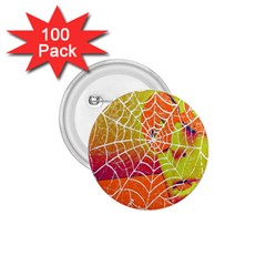 Orange Guy Spider Web 1.75  Buttons (100 pack)