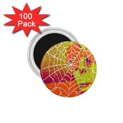 Orange Guy Spider Web 1.75  Magnets (100 pack)