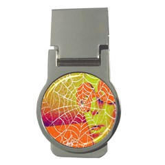 Orange Guy Spider Web Money Clips (Round)