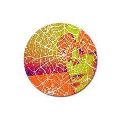 Orange Guy Spider Web Magnet 3  (Round)