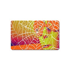 Orange Guy Spider Web Magnet (Name Card)