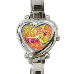 Orange Guy Spider Web Heart Italian Charm Watch