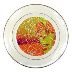 Orange Guy Spider Web Porcelain Plates