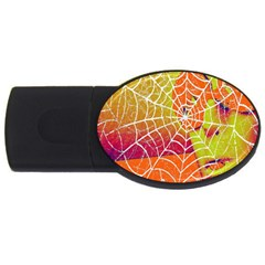 Orange Guy Spider Web USB Flash Drive Oval (4 GB)