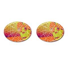 Orange Guy Spider Web Cufflinks (Oval)