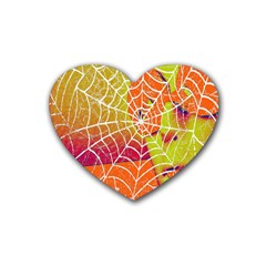 Orange Guy Spider Web Rubber Coaster (Heart)