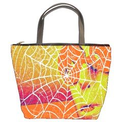 Orange Guy Spider Web Bucket Bags