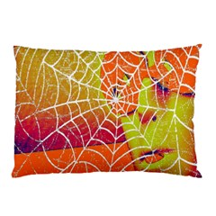 Orange Guy Spider Web Pillow Case
