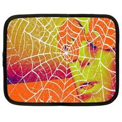Orange Guy Spider Web Netbook Case (XL)