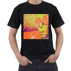 Orange Guy Spider Web Men s T-Shirt (Black)