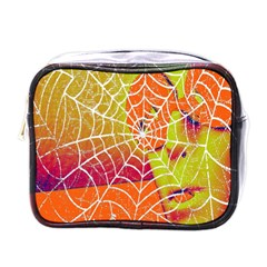 Orange Guy Spider Web Mini Toiletries Bags