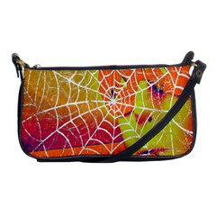 Orange Guy Spider Web Shoulder Clutch Bags