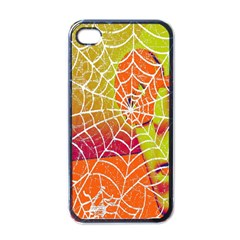 Orange Guy Spider Web Apple Iphone 4 Case (black)