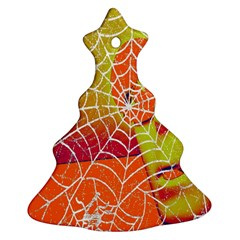 Orange Guy Spider Web Christmas Tree Ornament (Two Sides)