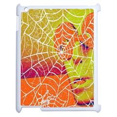 Orange Guy Spider Web Apple iPad 2 Case (White)