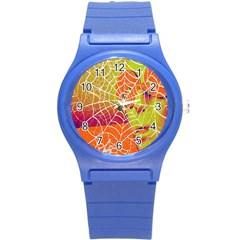 Orange Guy Spider Web Round Plastic Sport Watch (s)