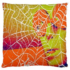 Orange Guy Spider Web Large Cushion Case (Two Sides)