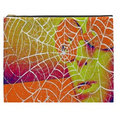 Orange Guy Spider Web Cosmetic Bag (xxxl)