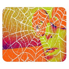 Orange Guy Spider Web Double Sided Flano Blanket (small)
