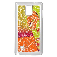 Orange Guy Spider Web Samsung Galaxy Note 4 Case (White)