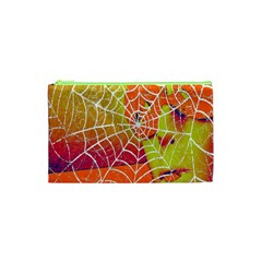 Orange Guy Spider Web Cosmetic Bag (XS)
