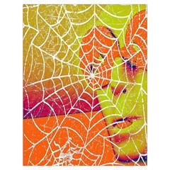 Orange Guy Spider Web Drawstring Bag (large)
