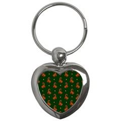 Paisley Pattern Key Chains (Heart)